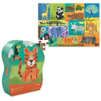 Jungle Animals 36 pc Floor Puzzle in Shaped Box