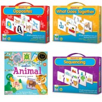 Cognitive Development Kit of 4 Matching Games for 3-5 Years