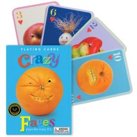 Crazy Faces Playing Cards for Kids