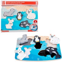 Polar Animal Tactile Puzzle 5 pc Touch & Feel Toy