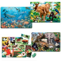 Preschool Animal 24 pc Floor Puzzles Set of 4