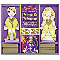 Prince and Princess Dress-up Wooden Set