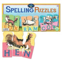 Spelling Puzzles Spell 3-Letter Animal Word Set
