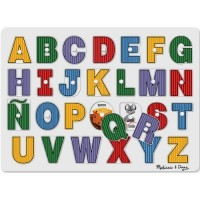 See Inside Spanish Alphabet Peg Puzzle