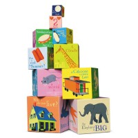 Read to Me Tot Towers 10 Stacking Blocks Set