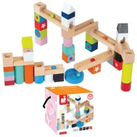 Wooden Marble Run Building Set - Kubix - Janod