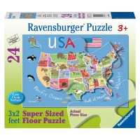 USA Map 24 pc Preschool Floor Puzzle