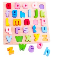 Chunky Alphabet  Lowercase Letters Wooden Puzzle