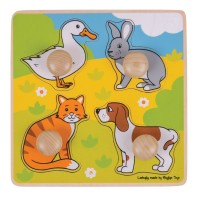 My First Wooden Peg Puzzle - Pets