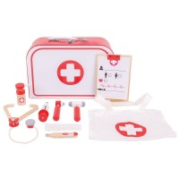 Doctors Kit 9 pc Wooden Playset in a Case