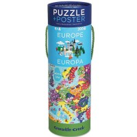 Europe 200 pc Map Puzzle & Poster Set