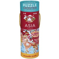 Asia 200 pc Map Puzzle & Poster Set