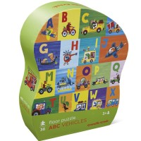ABC Vehicles 36 pc Puzzle in Shaped Gift Box