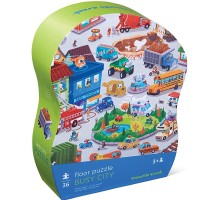 Busy City 36 pc Jigsaw Puzzle in Shaped Gift Box