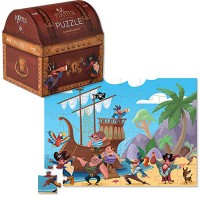 Pirates Treasure 48 pc Puzzle in a Treasure Chest Shaped Box