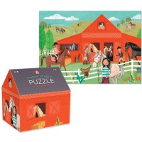 Horse Stable 48 pc Puzzle in a Barn Shaped Box