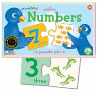 Preschool Numbers Puzzle Pairs Matching Game