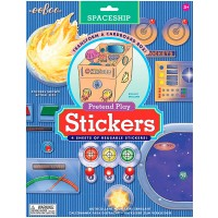 Spaceship Pretend Play Reusable Stickers Set