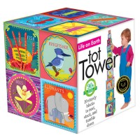LIfe on Earth Tot Towers 10 Stacking Blocks Set