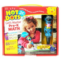 Hot Dots Jr. Let's Master Pre-K Math 2 Books & Dog Pen Interactive Set