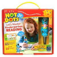 Hot Dots Jr. Let's Master Kindergarten Reading 2 Books & Dog Pen Interactive Set