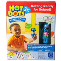 Hot Dots Jr. Getting Ready for School 160 Interactive Lessons & Dog Pen Set