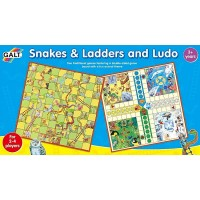 Snakes & Ladders and Ludo 2 Family Board Games Set