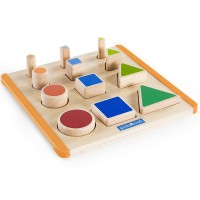 Nest & Stack Shapes Wooden Activity Board