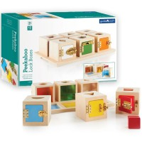 Peekaboo Lock Boxes Shapes & Colors Manipulative Activity Set