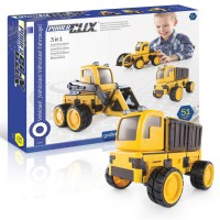 PowerClix 3 in 1 Construction Vehicles Magnetic Building Set
