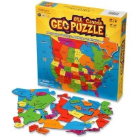 Geo Puzzle USA & Canada - 69 pc Map Puzzle