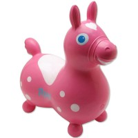 Rody Inflatable Hopping Horse - Pink