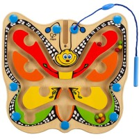 Color Flutter Butterfly Magnetic Wand Marble Maze