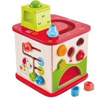 Pepe & Friends Wooden Activity Cube 5 Sides Play Center