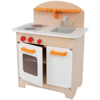 Gourmet Play Wooden White Kitchen