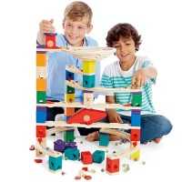 Xcellerator Quadrilla 136 pc Wooden Marble Run