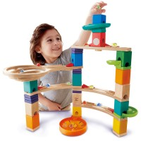 Cliffhanger Quadrilla 94 pc Wooden Marble Run