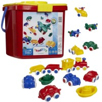 First Vehicles Chubbies Bucket 15 pc Toddler Playset