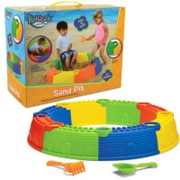 Castle Sand Pit 10 pc Beach Play Set