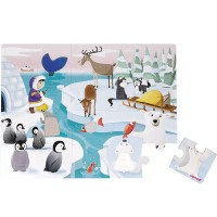 Life on the Ice 20 pc Tactile Puzzle