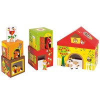 MultiKub Farm Stacking Blocks & Farm Characters Playset