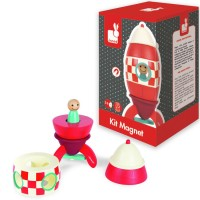 Super Rocket Magnetic Wooden Stacking Activity Toy