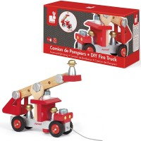 Build Wooden Fire Truck Vehicle Construction Set