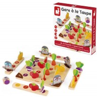 Beware of the Mole! Gare a la Taupe Preschool Wooden Board Game
