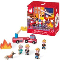 Firefighters Mini Story 8 pc Wooden Play Set