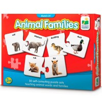 Animal Families Match It Learning Puzzle
