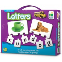 Letters Match It! Spelling Puzzle Set