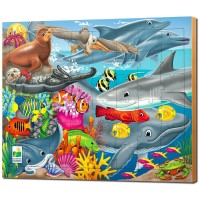 Creatures of the Sea 48 pc Lift & Discover Puzzle