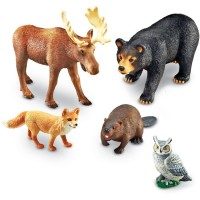 Jumbo Forest Animals 5 pc Wild Animal Figurines Set