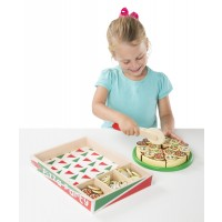 Pizza Party Wooden Play Food Set with 54 Toppings